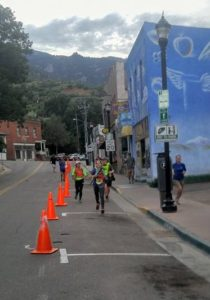 Jessica running down the home stretch.